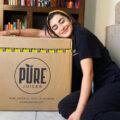 Ana Celia with PURE Juicer box