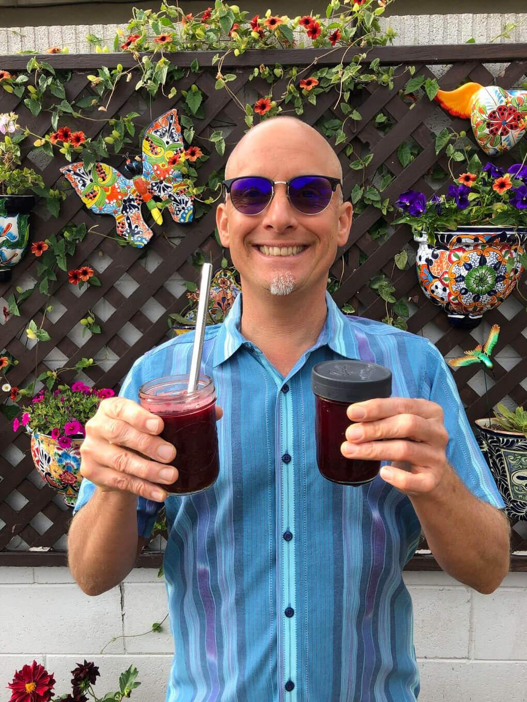 Conrad Fresse holding juice