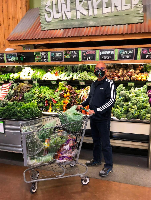 Conrad shopping in store