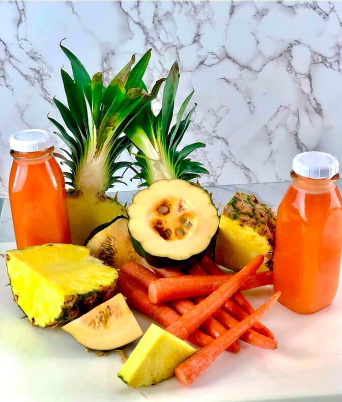 pineapple, carrots