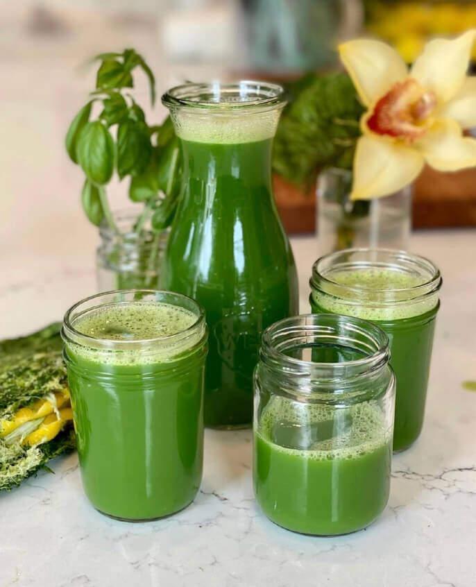Green juice for keto diet