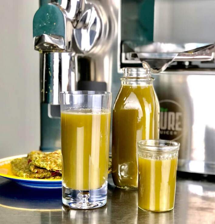 Yellow juice from Pure Juicer