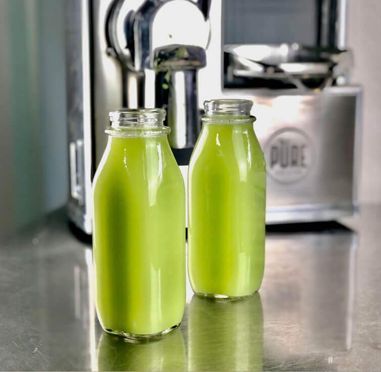 green juice from PURE juicer